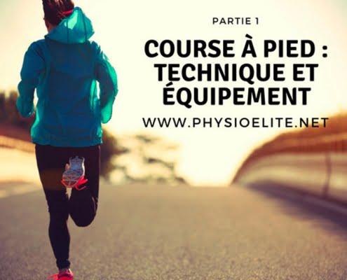 course à pied: technique et équipement
